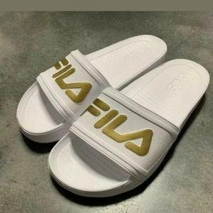 Fila Sleek Slide Lt Women's Sandals; Color: White,